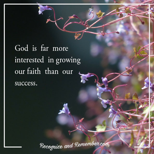 God is more interested in growing my faith than my comfort