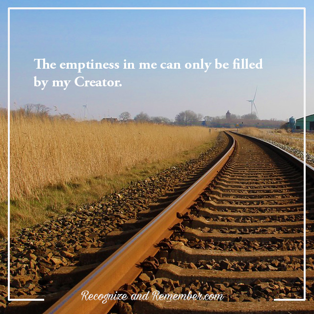 Filling the emptiness we all have