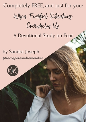 ad for devotional on fear